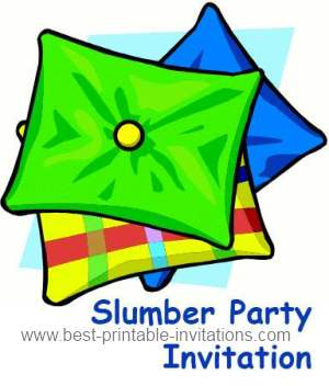 Free Printable Slumber Party Invitation