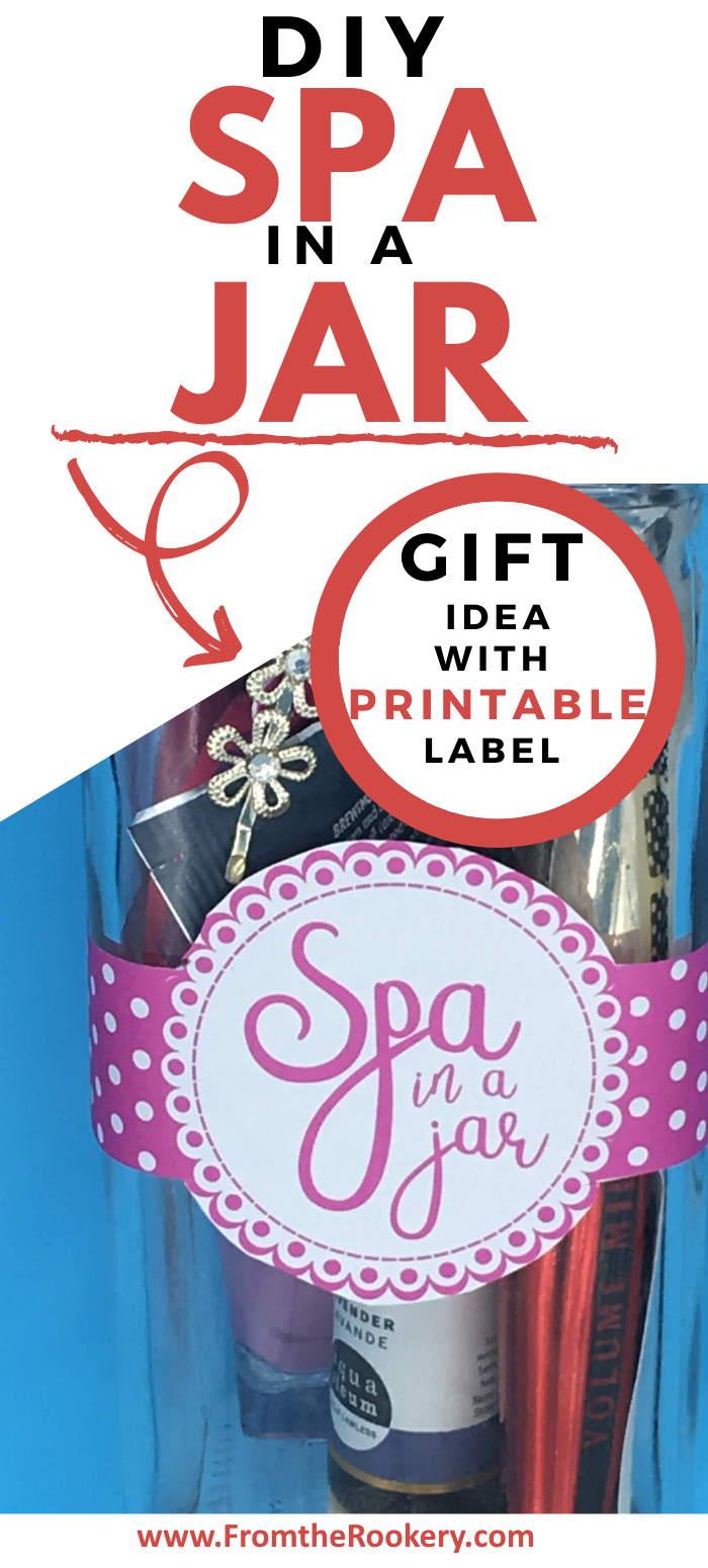 Spa in a Jar Diy gift