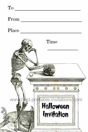 spooky halloween invitations. Black Bedroom Furniture Sets. Home Design Ideas