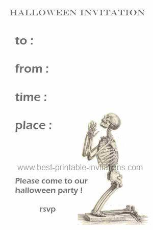 Printable Spooky Halloween Invitations - Free Invites