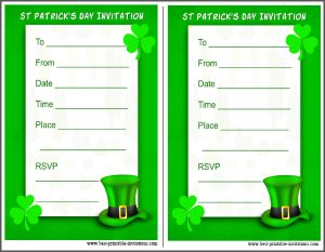St. Patrick's Day Party Invite