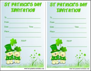 Kids St Patricks Day Invitation