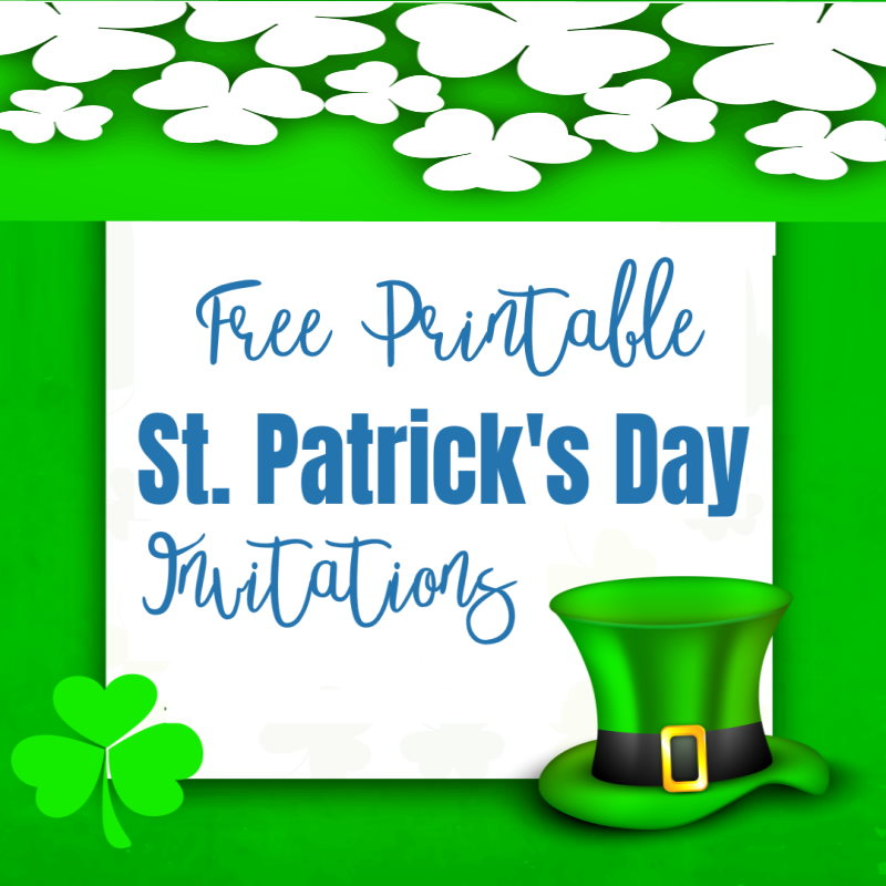 Printable St Patricks Day Invitations - Free Party Invites
