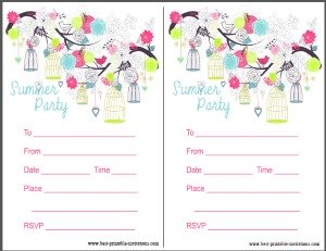 Printbale summer party invitation - free invites