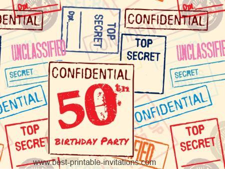Surprise 50th Birthday Invitations - Free Printable Invites