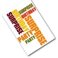Surprise invite - foldable card