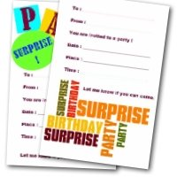 Printable Surprise Birthday Invitations