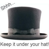 Keep it under your hat surprise invitations