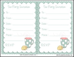 Free Tea Party Invitation - Polka Dot Printable Tea Invite