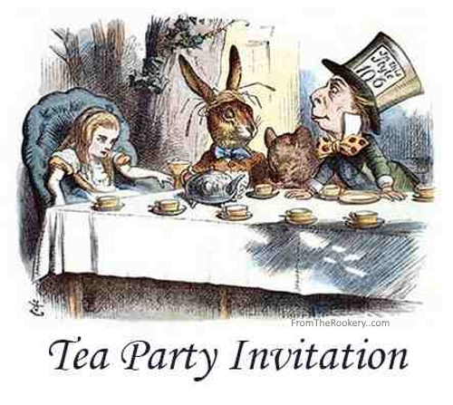 Tea Party Invitations - Free Printable Mad Hatter Design