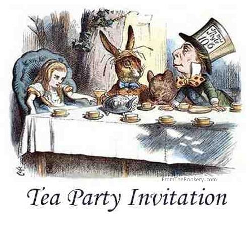 Tea Party Invitations - Free Printable Mad Hatter Design