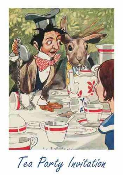 Alice in Wonderland Tea Party Invitations - Free Printable
