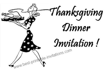 Thanksgiving Dinner Invitation - Free Printable