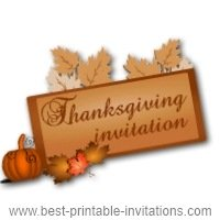 Thanksgiving Day Invitation - Free Printable Invite Card
