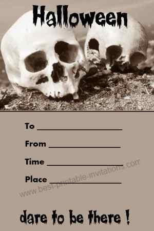 Free Printable Unique Halloween Invitation