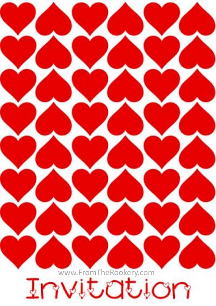 Valentine Invitations - Free printable invite cards