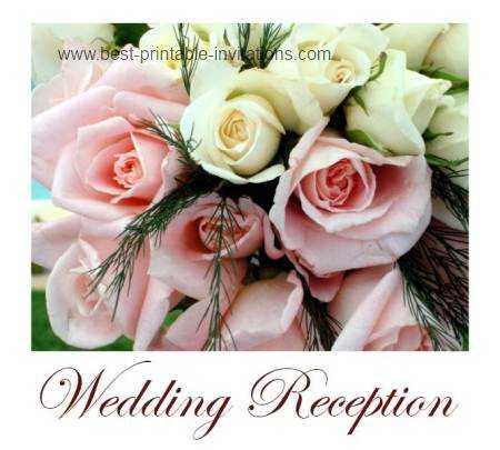 Wedding Reception Invitations - Free printable invite cards